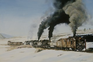 Snow Fighter oil on canvas 24x36 2008 private collection H. Blaney
