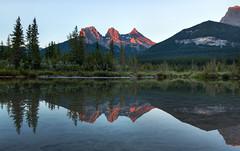 Three Sisters Canmore sunrise (Bill Clark_photos) Tags: banff alberta canada kananaskis
