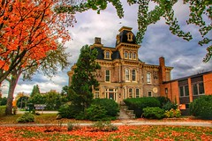 Port Colborne Ontario ~ Canada ~ Roselawn Mansion ~  Roselawn Centre for the Living Art (Onasill ~ Bill Badzo - 54M View - Thank You) Tags: autumn fall leaves portcolborne ontario por colborne on canada mansion house roselawn centre for living art onasill heritage historic historical place site portico door entrance architecture style second empire victorian attraction walking tour entertainment niagaracounty eriecounty garden building manor outdoor villa country canon sl1 eos rebel sigma lens macro auto sky clouds