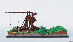The Trebuchet - 5 (Silmaril_1) Tags: lego moc medieval trebuchet silmaril1 siege engine diorama landscape