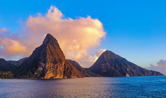 The Pitons, Saint Lucia (niallfritz) Tags: sunset pitons santalucia caribbean peaks platinumheartaward coth coth5