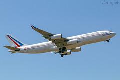 F-RAJB Airbus A340 (@Eurospot) Tags: frajb airbus a340 a340200 toulouse blagnac cotam republiquefrancaise