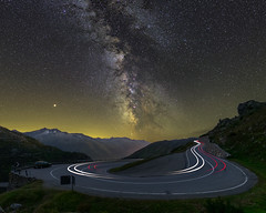 Grimsel Pass milky way and mars (lukas schlagenhauf) Tags: grimselpass wallis switzerland swiss suisse schweiz cartrails road creativcommons lukasschlagenhauf night nightscape europe canoneos6d canon milkyway milchstrasse stars galacticcore astrophotography myswitzerland