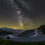 Grimsel Pass milky way and mars thumbnail