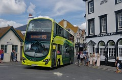 Lime in Lyme (Better Living Through Chemistry37) Tags: routex53 firstgroup firsthampshiredorset bj11ecx 37987 volvo b9tl wright wrightgemini gemini2 lymeregis buses busessouthwest busesuk transport transportation vehicles vehicle psv publictransport
