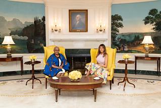 First Lady Melania Trump and Mrs. Kenyatta