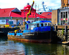 Scotland West Highlands Argyll Oban an old work boat used by divers called Dorus Mor 7 July 2018 by Anne MacKay (Anne MacKay images of interest & wonder) Tags: scotland west highlands argyll oban pier dock building buildings people old work boat dorus mor 7 july 2018 picture by anne mackay