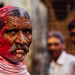 Old Man With Gulal on Face, Vrindavan India