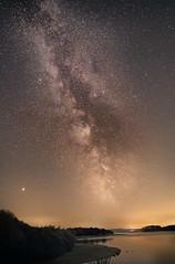 Milky Way Over BB (saundersfay) Tags: milkyway stars dark sky water bb galaxies nebulae kent space universe wizard ic1396elephanttrunknebula startrails m31greatandromedagalaxy comet21ppassingm35andngc2158 galaxy