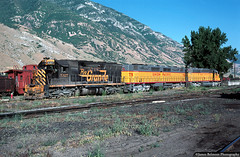 Bizarre Power Lash-up (jamesbelmont) Tags: riogrande unionpacific emd sd45 dd35 sd402 provo utah railway
