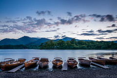 Keswick or Venice? (Daniel Coyle) Tags: keswickorvenice keswick derwentwater venice gondolas boats lake lakedistrict water cumbria nikon nikond7100 d7100 danielcoyle england uk nationaltrust natural nature sunset dusk bluehour clouds mountains fells hills longexposure countryside country sky