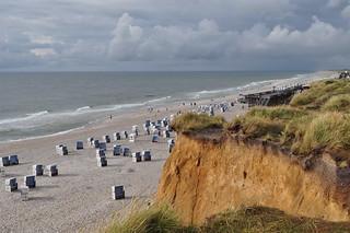 Plage de Kampen, Sylt, Nordfriesland, Schleswig-Holstein, Allemagne.