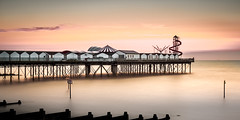 Herne Bay Sunset (Nathan J Hammonds) Tags: herne bay sunset summer kent england pier sea beach coast uk nikon d750 long exposure nd filters lee colour water sky sun evening fairground