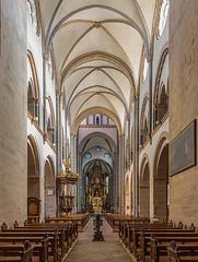 Basilika St. Ludgerus in Werden (ulrichcziollek) Tags: nordrheinwestfalen essen werden basilika st ludgerus ruhrgebiet romanik romanisch gotik gewölbe kirche kirchenschiff