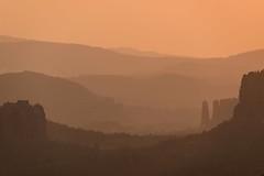 The golden Valley (derliebewolf) Tags: natur sunrise schrammsteine falkenstein landscape goldenhour valley goldenmist summer silhouette mountains sandstone saxonswitzerland saxony nationalpark gohrisch