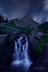 Starry Night in Wilderness (Mengzhonghua) Tags: landscape nightscape rocky mountain waterfall mountains colorado wilderness starrynight
