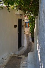 Alleyway in Anafiotika (AgarwalArun) Tags: sonya7m2 sonyilce7m2 sony athens greece landscape scenic nature views acropolis hill anafiotika neighborhood plakaneighborhood bougainvillea alleys cycladevillage