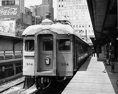 South Shore 104 at Randolph Steve Schinkel photo (jsmatlak) Tags: chicago south shore bend csssb railroad train electric interurban randolph nictd