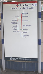 59 years Not Out ! (AndrewHA's) Tags: stratford london railway station train underground central line sign tfl platform