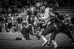 Three Games. One Night. (Phil Roeder) Tags: desmoines iowa desmoinespublicschools football sport athletics athletes blackandwhite monochrome canon6d canonef100400mmf4556lis lincolnhighschool