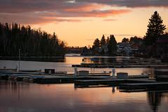 Kenora sunset (garypaakkonen) Tags: canada canadarocks garypaakkonen lakeofthewoods photography pier d300s dock lake lakehouse nikon northernontario ontario spring sunset trees water kenora ca