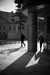 Winter light (michael.mu) Tags: poland warsaw warszawa leica m240 noctilux leicanoctiluxm50mmf095asph monochrome bw blackandwhite winter 50mm streetphotography