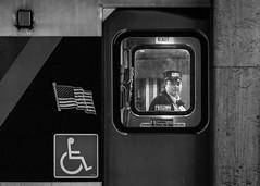 Watch the Gap (John St John Photography) Tags: pennstation streetphotography candidphotography njtransit conductor train car railroad commuter bw blackandwhite blackwhite blackwhitephotos johnstjohnphotography