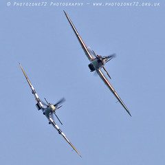 2984 LF363 AB910 Andy P (photozone72) Tags: bournemouth airshows aircraft airshow aviation canon canon7dmk2 canon100400f4556lii 7dmk2 bbmf raf warbirds wwii rafbbmf hurricane lf363 spitfire ab910