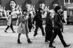 Giddy Up (burnt dirt) Tags: asian japan tokyo shibuya station streetphotography documentary candid portrait fujifilm xt1 bw blackandwhite laugh smile cute sexy latina young girl woman japanese korean thai dress skirt shorts jeans jacket leather pants boots heels stilettos bra stockings tights yogapants leggings couple lovers friends longhair shorthair ponytail cellphone glasses sunglasses blonde brunette redhead tattoo model train bus busstation metro city town downtown sidewalk pretty beautiful selfie fashion pregnant sweater people person costume cosplay boobs