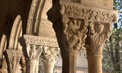 Stone story (chriskatsie) Tags: arles provence colonne cloitre cloister pierre stone visage face personnage