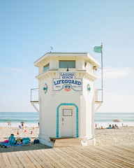 Laguna beach Tower (PeterStout) Tags: lagunabeach pentax6x7 pentax55 ektar100 kodakektar100 film lifeguardstation