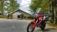 24 A-Twin at Pretty Place chapel (V-rider) Tags: rhm ralph vrider97 samsung processed ksm ashes wife love life matthew kree cross prettyplace symmes chapel ymca camp reverent sunrise karen valkyrie shadow1100 africatwin