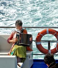 Belle-Île-en-Mer: accordion player on the ferry (Henk Binnendijk) Tags: belleîleenmer belleîle morbihan bretagne brittany breizh france frankrijk insel island île eiland accordeon accordion muziek music player artist ferryboat veerboot sea quiberon