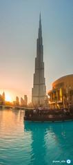 #burjkhalifa #dubai (ayman_ay17) Tags: dubai burjkhalifa sunset sun water uae