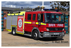 London Fire Brigade G56 Heathrow (mab2311) Tags: fireappliance fireengine fire firetender fireservice fireengines lorries lfb londonfirebrigade mercedesbenz mercedesbenzatego emergencyvehicles emergencyone tvac