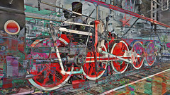 BaikalReise 75p (wos---art) Tags: bildschichtung russland transsibirische eisenbahn historisch ausgemustert stillgelegt schrottplatz ausgestellt präsentiert maschinengeschichte