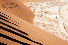 Playing with shadows (Lux Animae) Tags: red dune sossusvlei dead vlei namibia namib desert