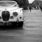 Wedding car outside York Minster