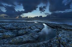 Tungenes - VJ3_0941 (Viggo Johansen) Tags: tungenes aftersunset sea northsea shoreline coast sky clouds rocks rogaland randabergkommune