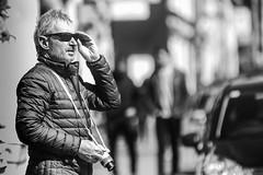 Seeking that great shot (Frank Fullard) Tags: frankfullard fullard candid street portrait photographer monochrome black white blanc noir shades hope camera dingle kerry irish ireland visitor tourist lol fun