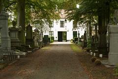 Centrale begraafplaats Brugge (jolandavanwoerkom1) Tags: begraafplaats brugge erfgoed ingang tree building