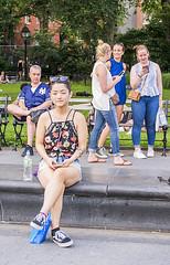 1359_0661FL (davidben33) Tags: newyork manhattan summer unionsquarepark grass trees flowers people crowd women girls street streetphotos festive dance music joy beauty fashion colors 718 washingtonsquarepark