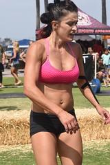 Winded Woman (Chris Hunkeler) Tags: woman female athlete sportsbra hotmessexpress socal fitness crossfit fit socalfitnessclassic