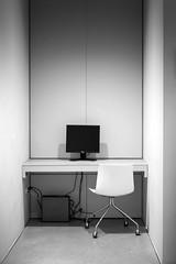 Cubicle (pas le matin) Tags: travel voyage world lille france cubicle box chair siège screen écran computer ordinateur europe europa bw nb noiretblanc black white blackandwhite monochrome canon 7d canon7d canoneos7d eos7d