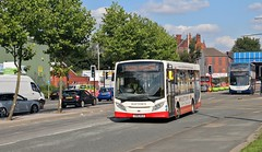 SN66 WLB, Hattons ADL Enviro, Wigan, 31st. August 2018. (Crewcastrian) Tags: wigan buses transport hattons dennis alexander enviro sn66wlb