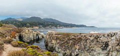 Panoramic: Point Lobos State Natural Reserve (mon_ster67) Tags: hiking hike pch pointlobos mon ca california californiacoast pointlobosstatenaturalreserve chinacove landscape scenery ©mon monterey carmelbythesea panoramic panorama ocean water wave beach hillside overcast sigma fog cloudy