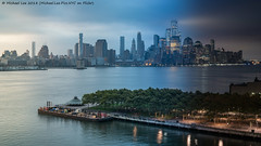 WTC Night to Day Time Lapse Photo (20180903-DSC09885-Edit) (Michael.Lee.Pics.NYC) Tags: newyork hoboken newjersey aerial hotelview whoboken pierapark hudsonriver lowermanhattan tribeca wtc worldtradecenter timelapse nighttoday composite night bluehour sunrise morning day architecture cityscape skyline fog clouds sony zeissloxia50mmf2