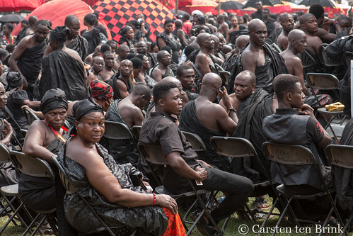 At the Queen Mother's funeral