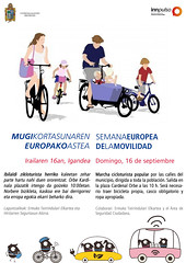 Cartel de la marcha cicloturista popular.