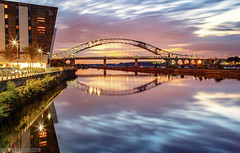 The Deck-3 (andyyoung37) Tags: manchestershipcanal reflections runcornbridge silverjubileebridge sunset thedeck